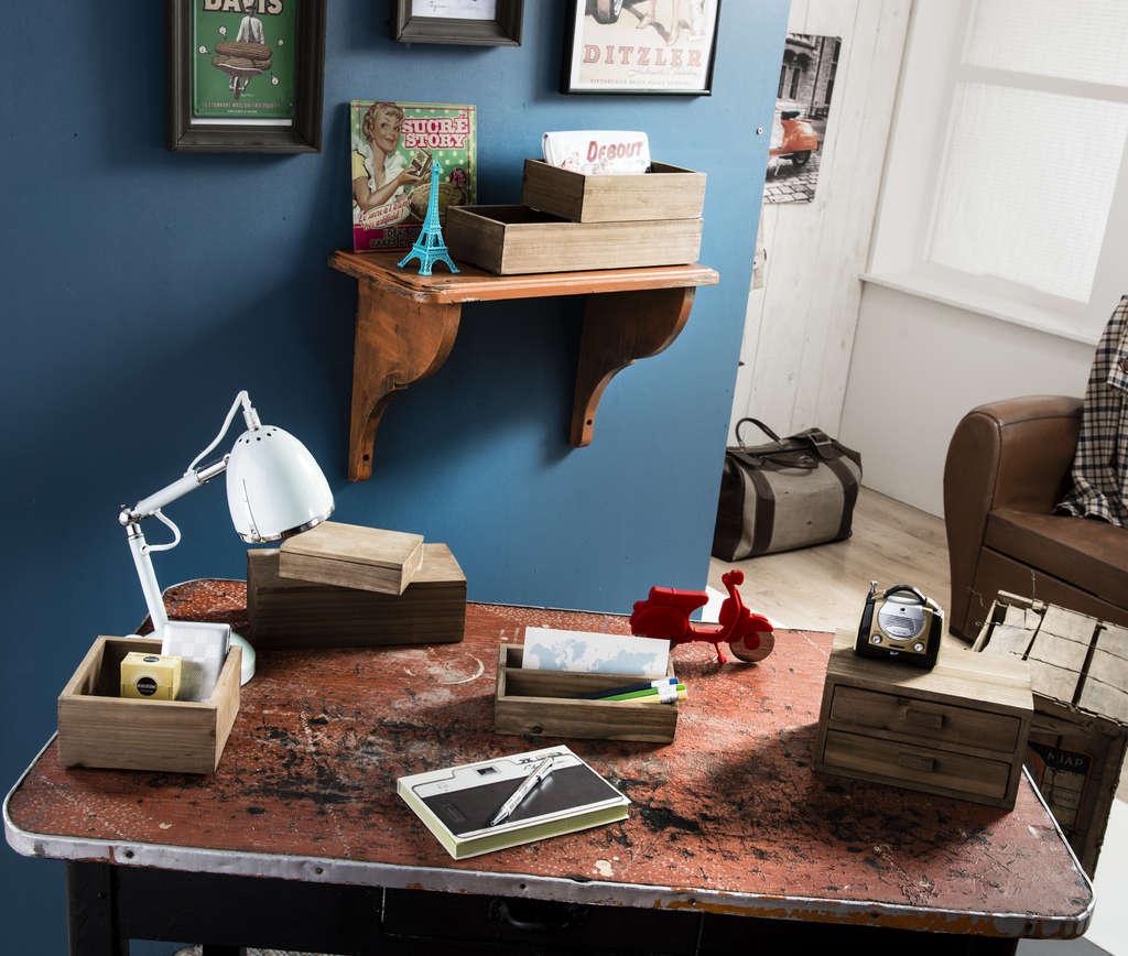 décoration scandinave boite rangement vintage