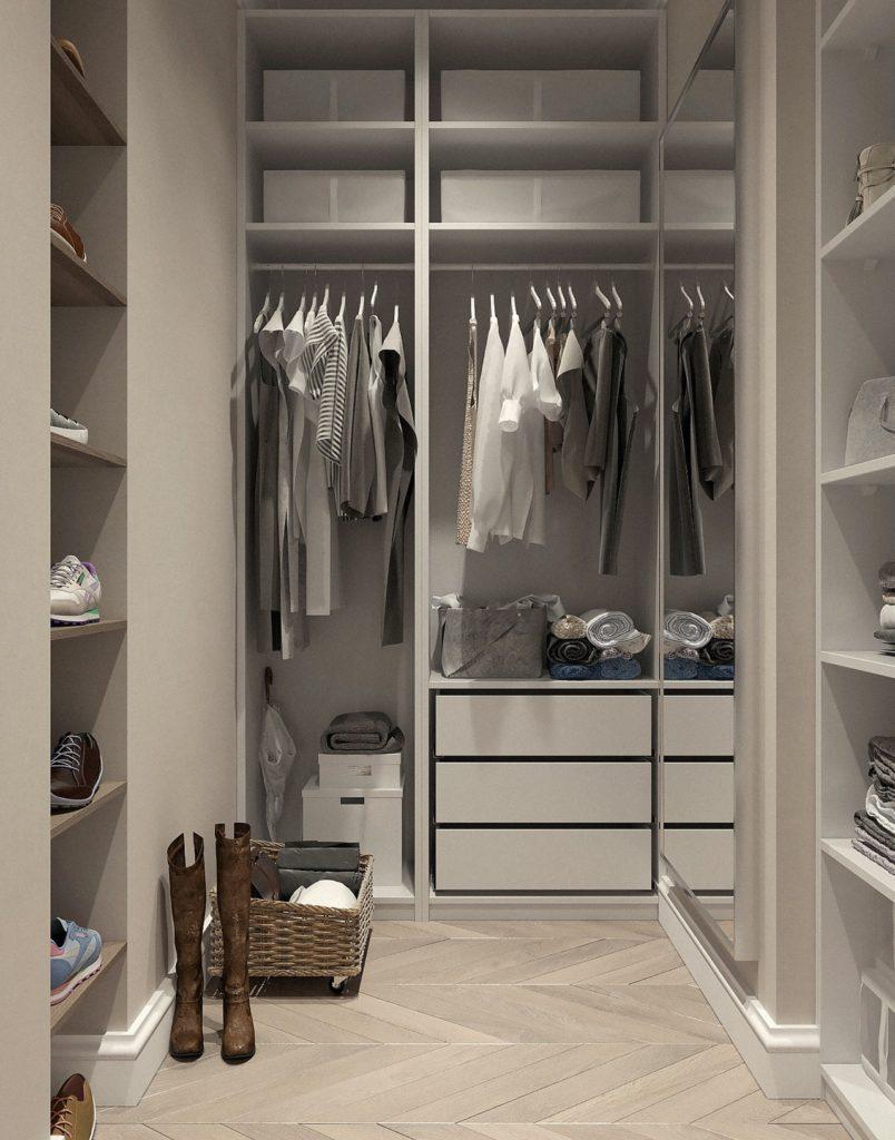 Une armoire bien rangée