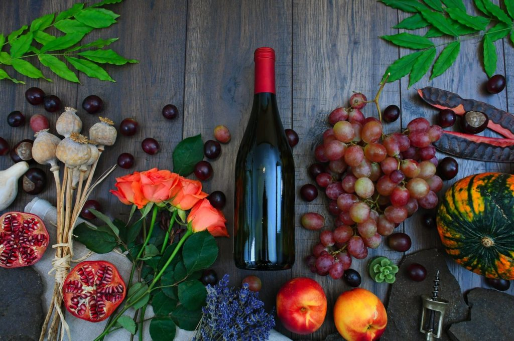 vin et fruits