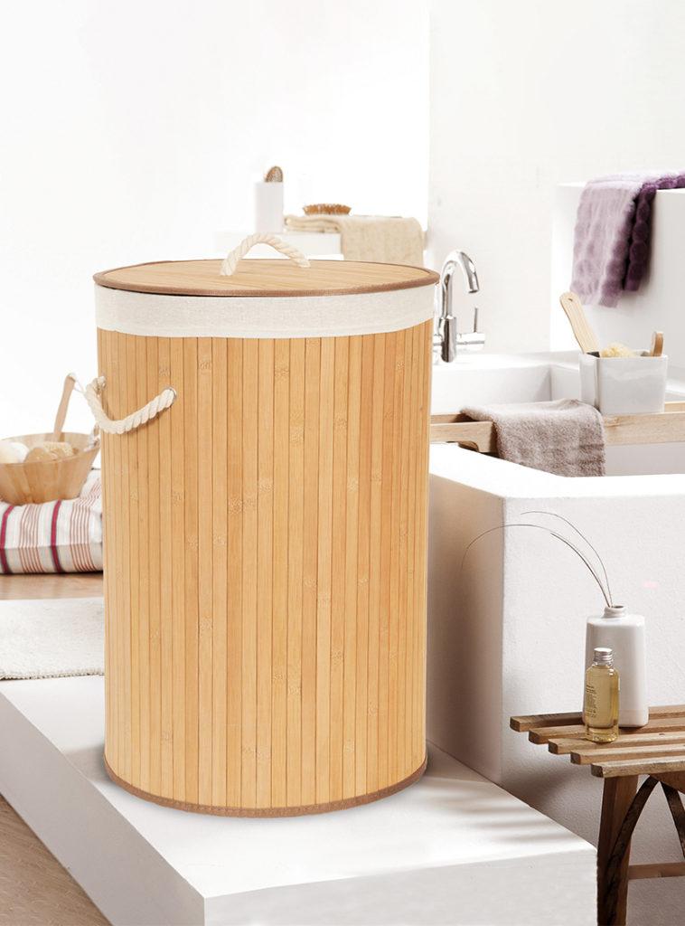 """Cestino lavanderia in bambù naturale """"Alba"""""""