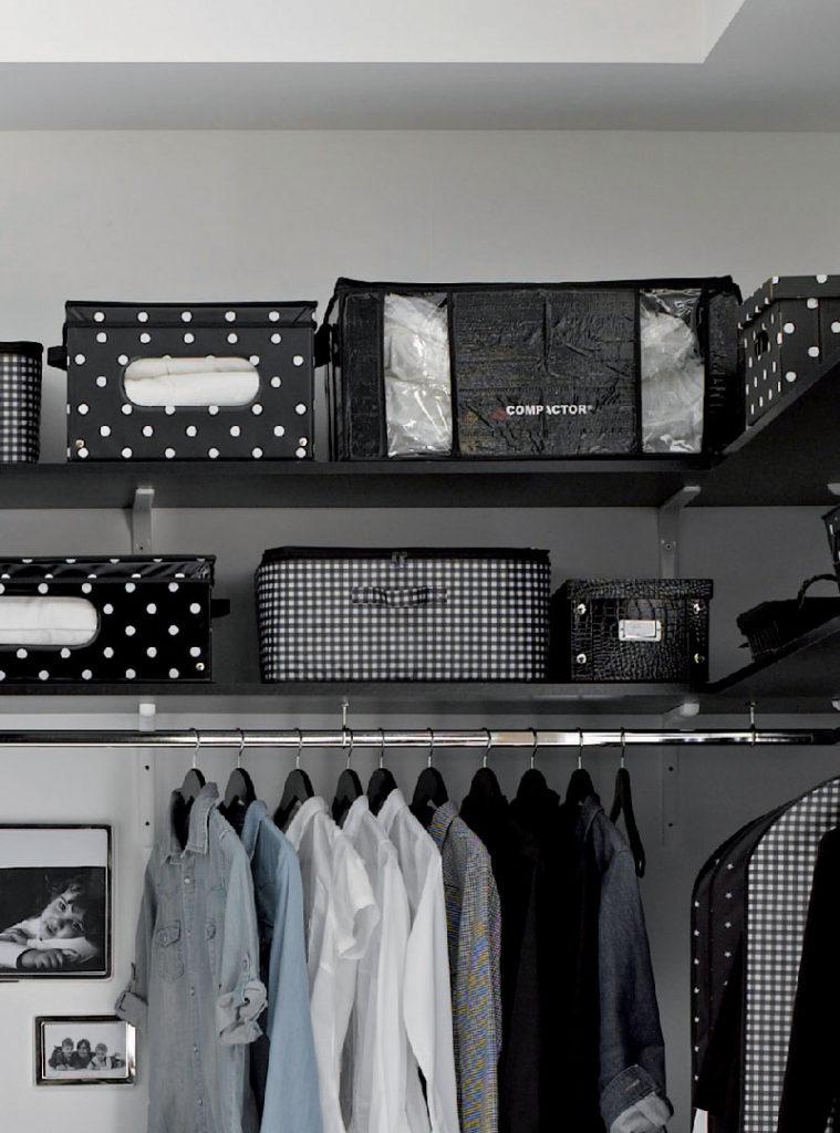 Boîte de rangement sous vide semi-rigide noire « Parisienne », taille XXL
