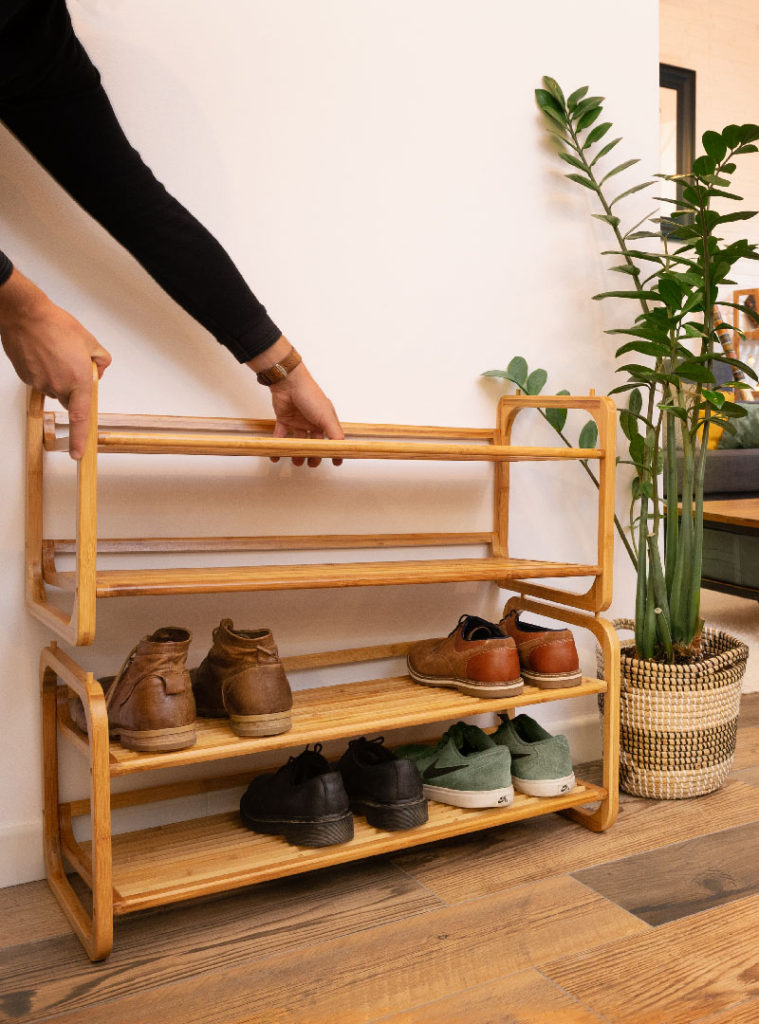 """Welly"" Bamboo Shoe Rack"