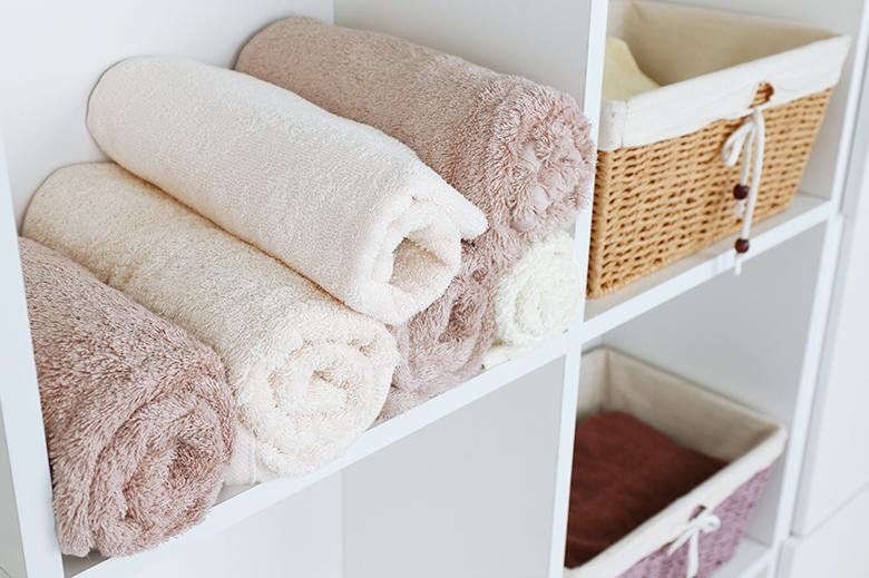 étagère rangement serviettes