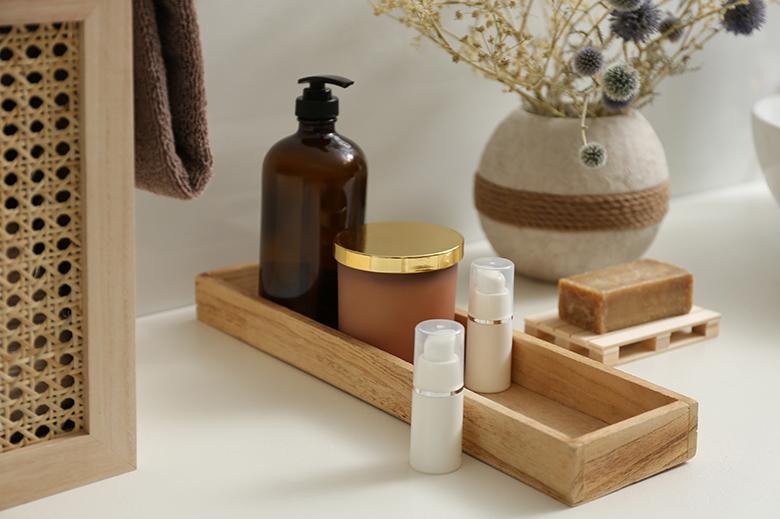 organisateur salle de bain parfum et soins du corps