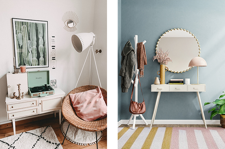 decoración en colores de medio tono