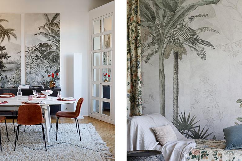 motif jungle palmier
