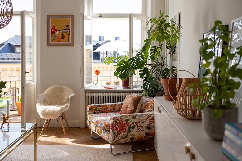 fauteuil motif fleurs
